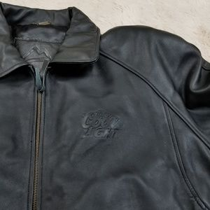 New Burk's Bay Coors Light Leather Jacket XL